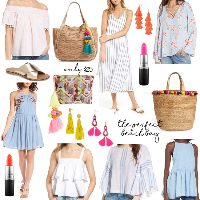 tops dresses bags shoes lipstick earrings