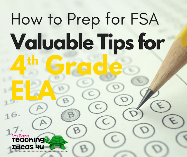 How to Prep for FSA: Valuable Tips for 5th Grade ELA - This post unpacks the 5th grade ELA FSA test and standards and discusses which concepts to focus on during your test review.