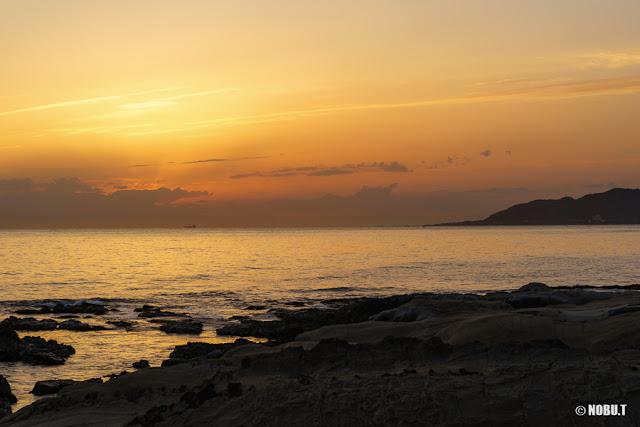 布良海岸(館山市)からの夕景