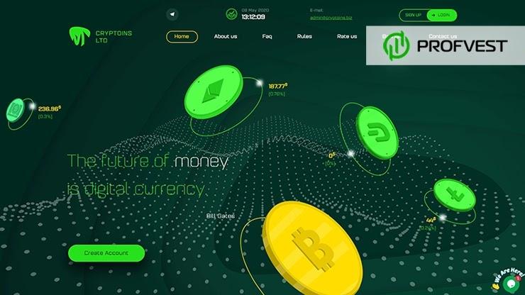 Cryptoins обзор и отзывы HYIP-проекта