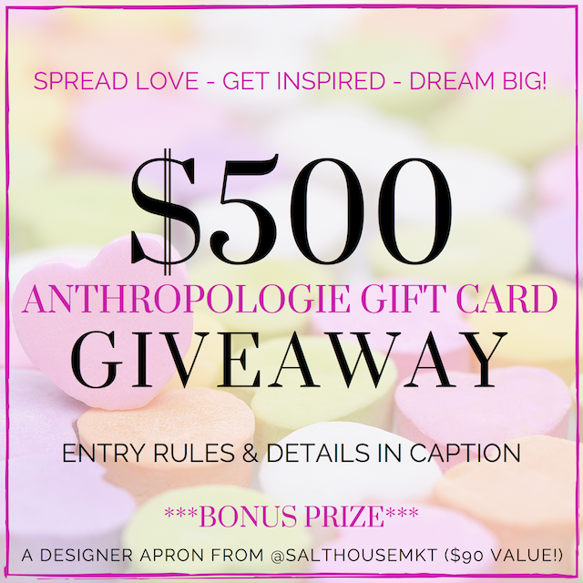 $500 Anthropologie Instagram Giveaway
