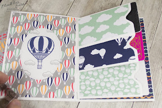 Hot Air Balloon Gift Card 3 Pocket Card made with the Stampin Up Envelope Punch Board