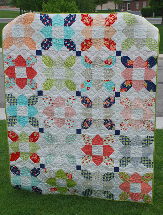 Cindy's Prairie Flower Quilt Free Tutorial