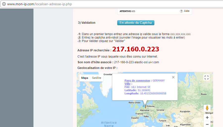 Localiza dónde está tu servidor Web y IP
