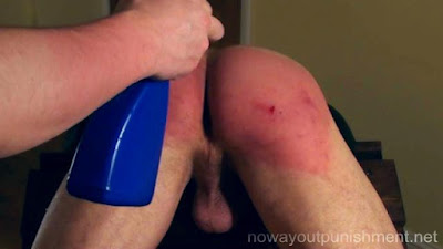 Ben takes a hard spanking in a gay spanking video made by No Way Out Punishment