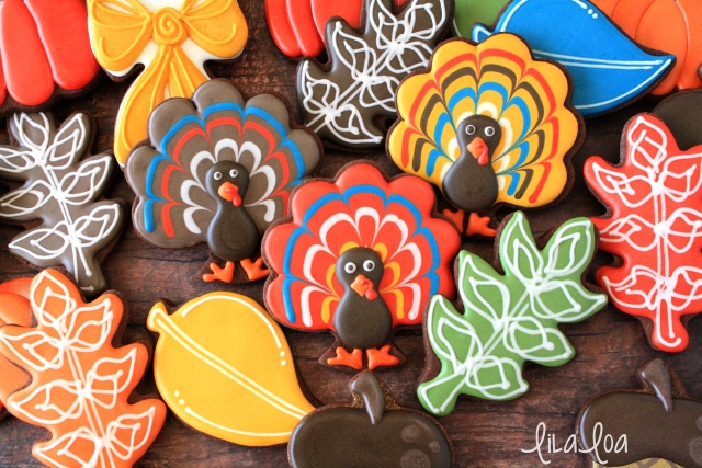 Easy turkey cookies -- a cookie decorating tutorial