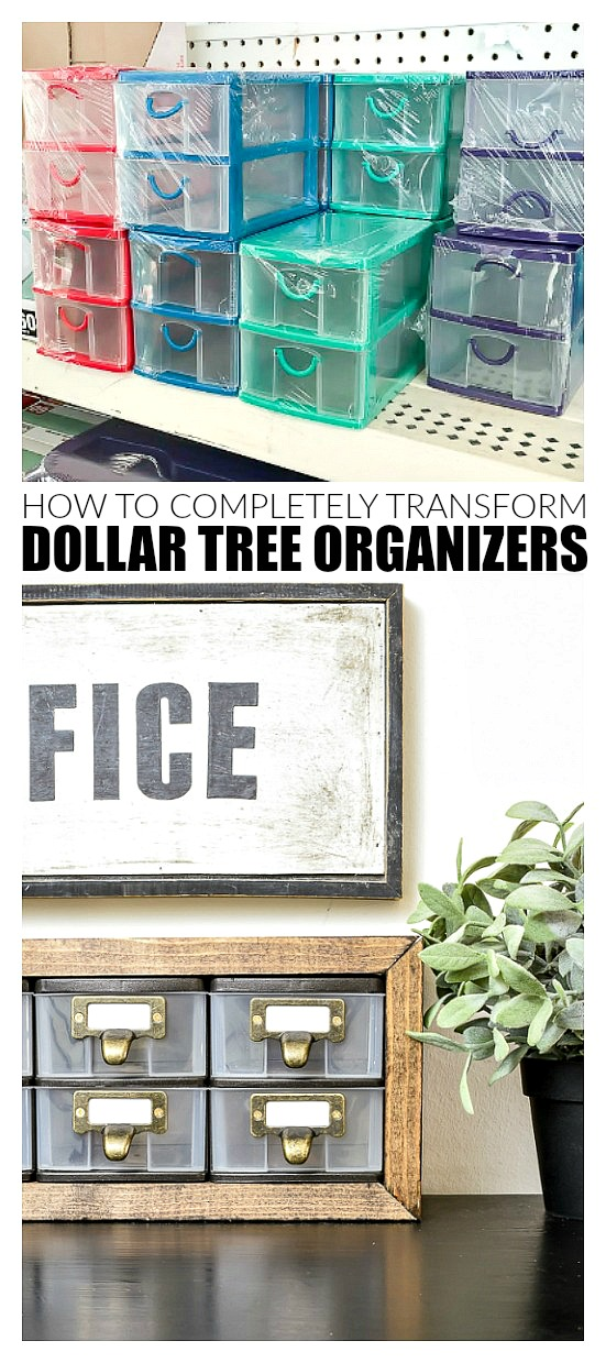 How to update basic Dollar Tree storage drawers