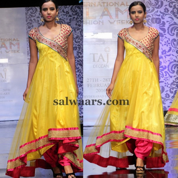 Yellow and Pink Stylish Salwar