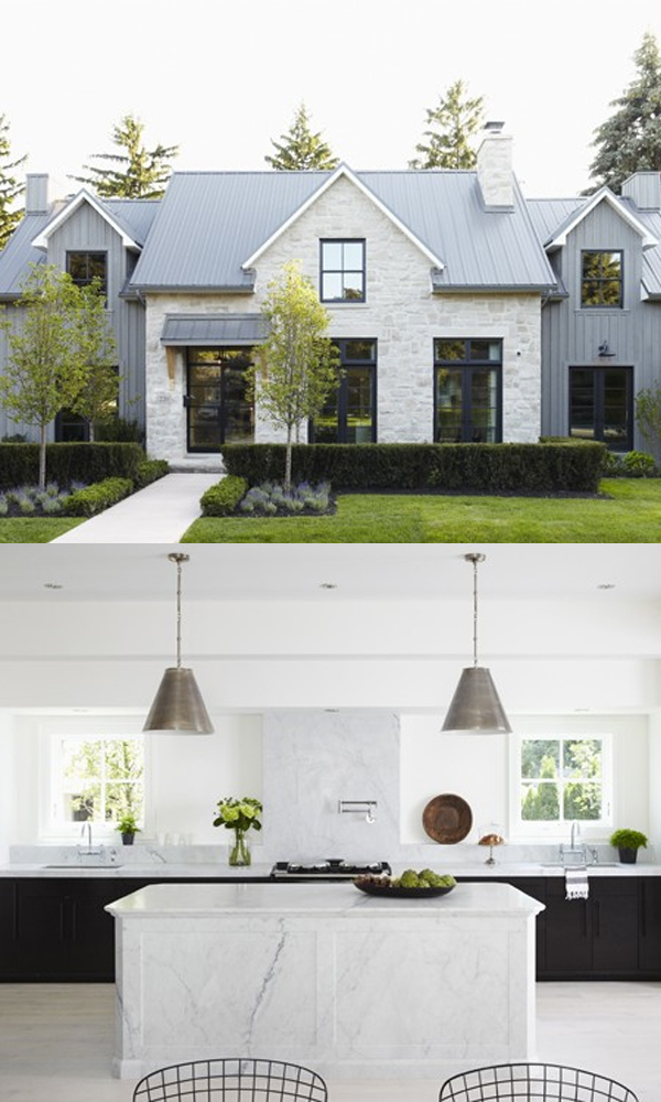 Clean Lined Modern Farmhouse Style With Those Marble Counters Le Sigh From The Architecture And Great Light To Simple Furnishing Most