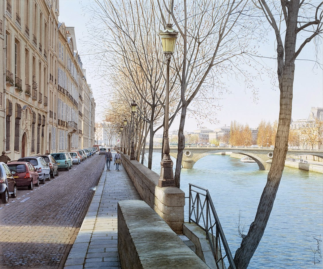 15-St-Louis-island-Thierry-Duval-Snippets-of Real-Life-in Watercolor-Paintings-www-designstack-co