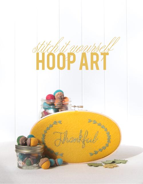 DIY Hoop Art // Benzie Design