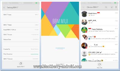 BBM MIUI v7.1.24 Themes New Based Versi 2.12.0.9 Apk
