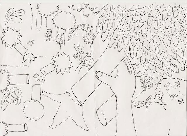 Reforma Só Sei Que Nada Sei Sobre O Meu Ppr: Pensei,Desenhei: Desenho Sobre Desmatamento