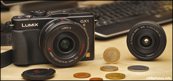 Fotografia della Panasonic GX1 e del 14mm f/2.5