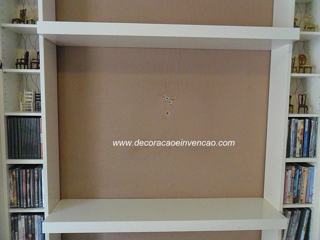 Painel de TV super fácil de fazer com madeira de forro/ lambril. #614D36 1024x768