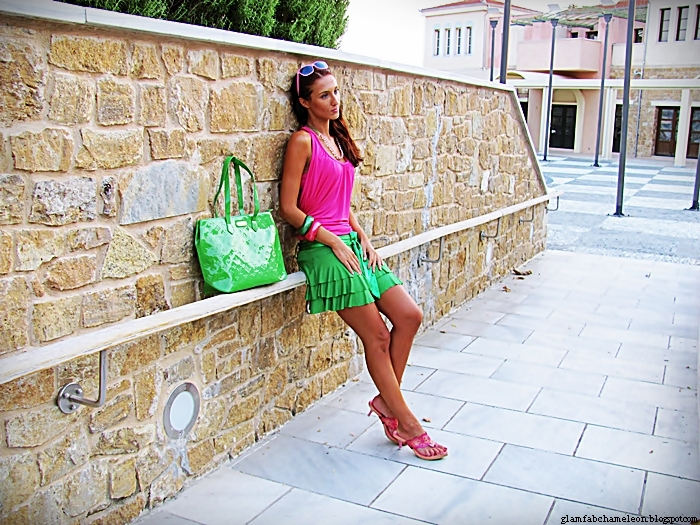 pink and green outfit combinations for summer