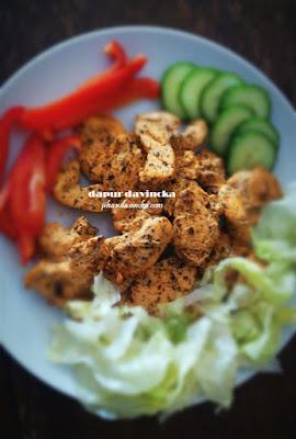 Resep Ayam Panggang Paprika-Mint