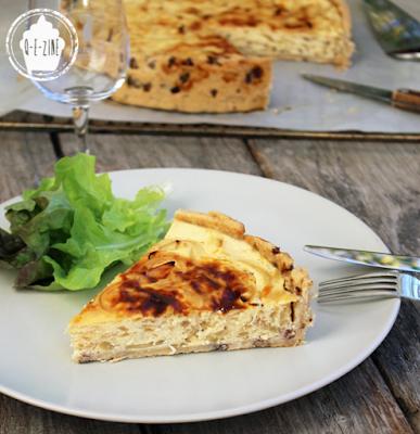tarte au fromage blanc et aux oignons