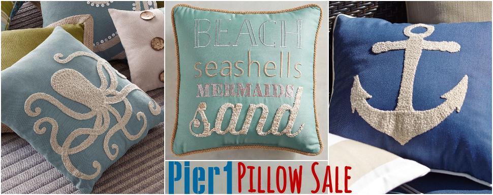 Coastal Pillow Sale Pier 1