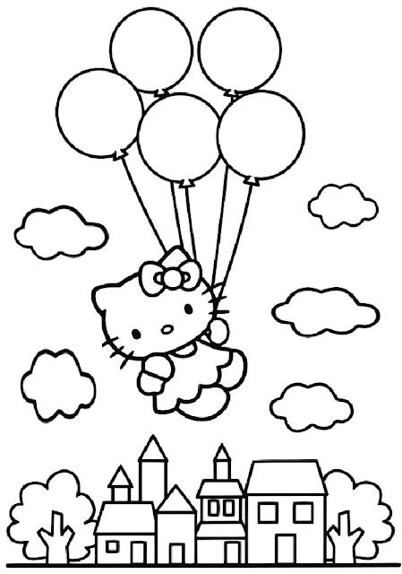 Gambar Mewarnai Balon - 8