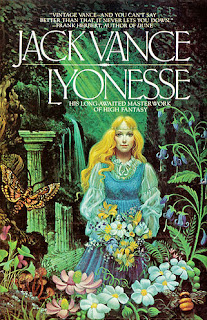 The cover art of the 1983 paperback edition of Lyonesse - Book 1: Suldrun's Garden.