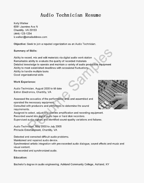 sound engineer resume samples