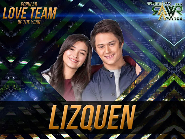 CUB: LizQuen bags Popular Love Team of the Year #RAWRAwards2016
