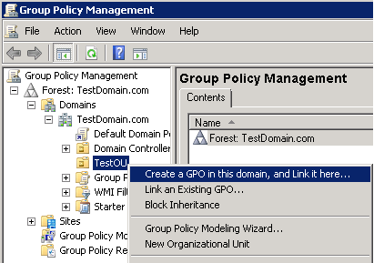 How to Apply Group Policy at OU Level