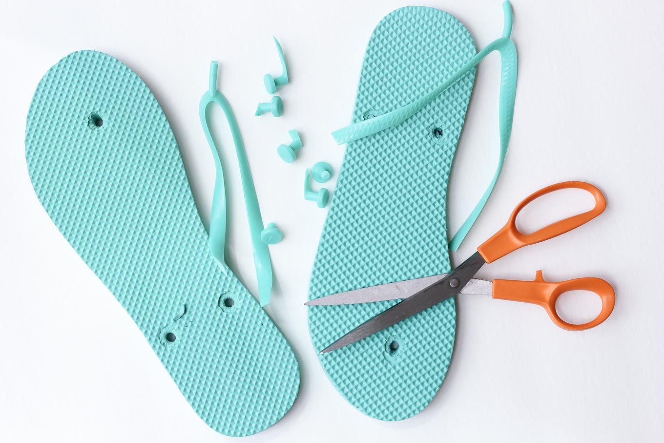 157fcecb3cd4 Turn a simple pair of cheap flip flops into some lightweight crocheted  slippers house shoes with this simple tutorial. The cotton yarn makes them  perfect ...