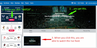 NBA League Pass-Not Intuitive