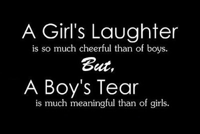 Girl's laughter and Boy's tear - Tear Quotes ~ English SMS ...