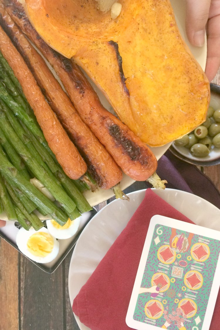 Roasted Veggies (for sharing) | 6 of Diamonds | #InternationalTarotDay blog hop #tarot