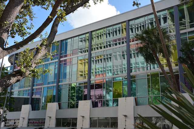 Miami Beach stained glass facade