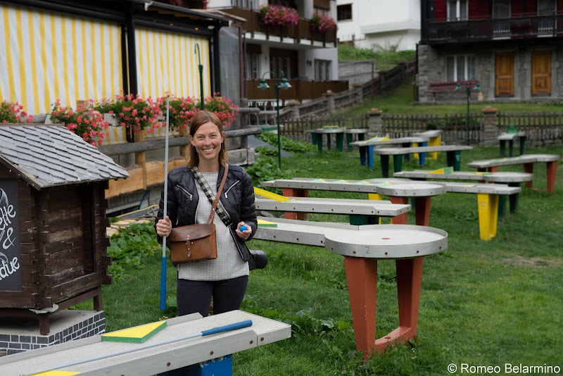 Hotel Tenne Mini Golf Billiards Things to Do in Saas-Fee Switzerland in Summer