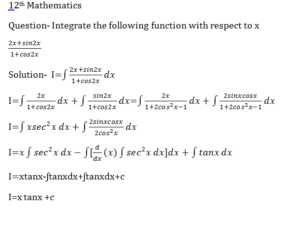 Rule of integration by parts | integration of product of functions