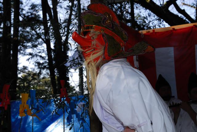 Eitai Daigo Kagura (Dance for the God Festival), Suijinja Shrine, Unakami, Chiba
