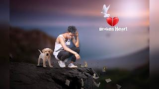no more love, broken heart, breakup editing,