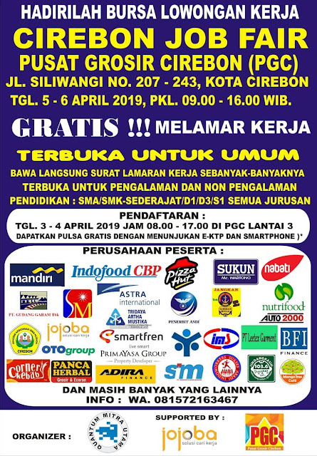 Job Fair GRATIS di Cirebon