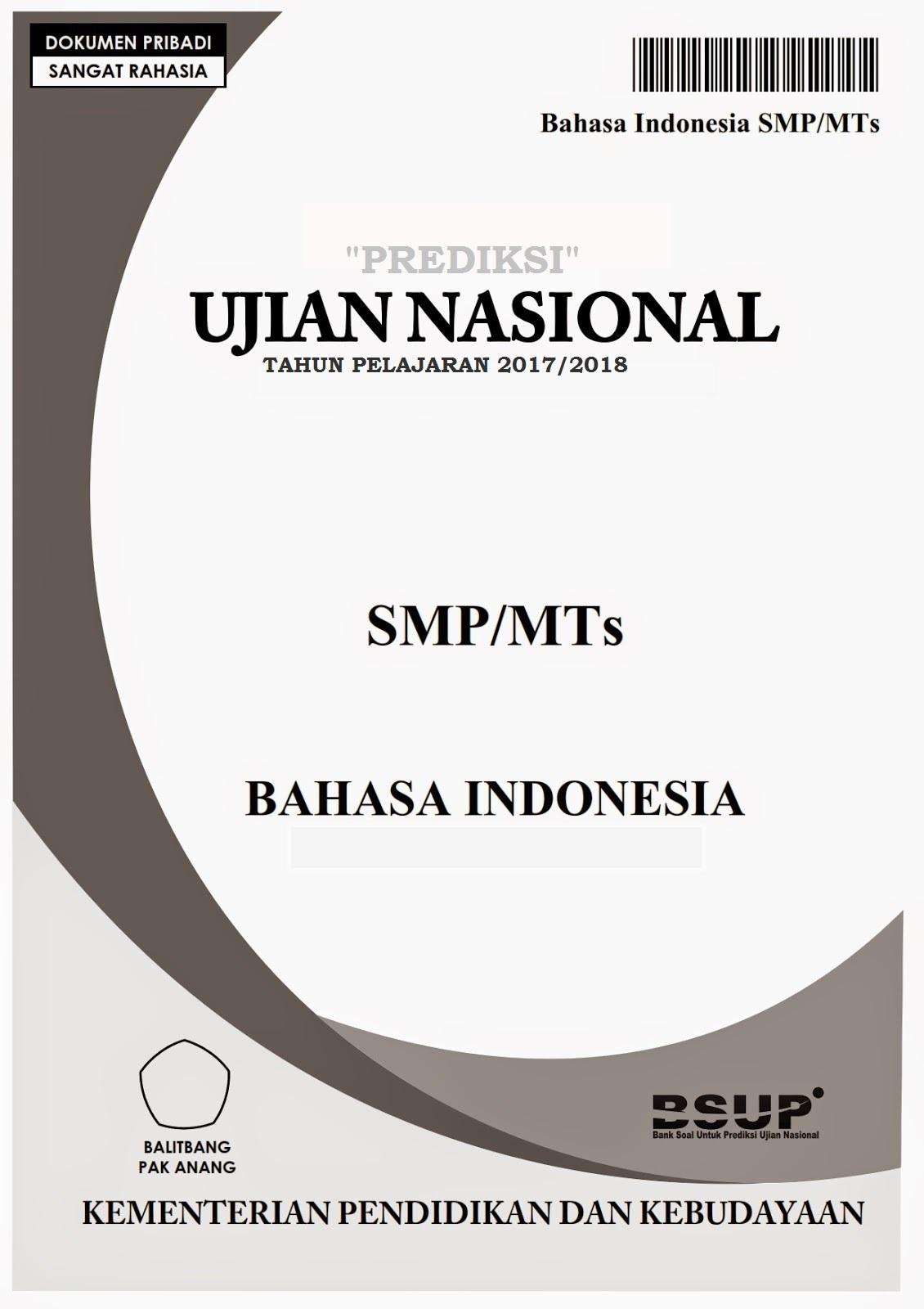 Latihan Unbk Smp Bahasa Indonesia : latihan, bahasa, indonesia, Latihan, Bahasa, Indonesia, SMP/MTs, Beserta, Kunci, Jawaban, JUGAN