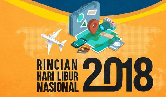 kalender 2018 indonesia lengkap dengan hari libur nasional dan cuti bersama serta harpitnas