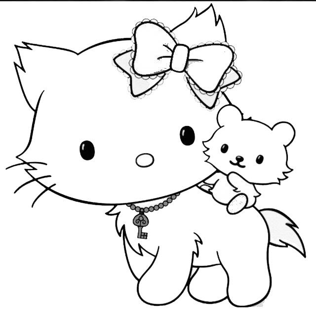 Stampa e colora hello kitty for Stampa disegni da colorare