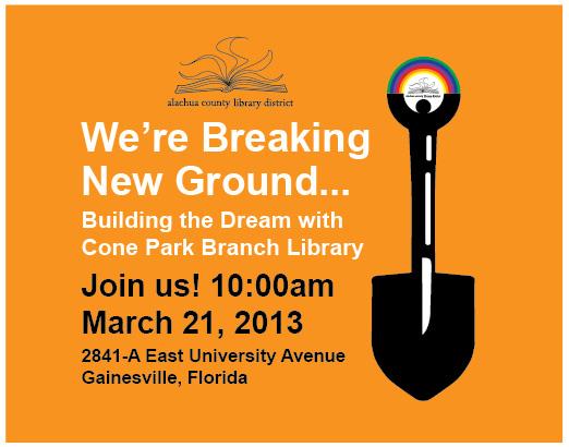 library marketing design  library groundbreaking ceremony