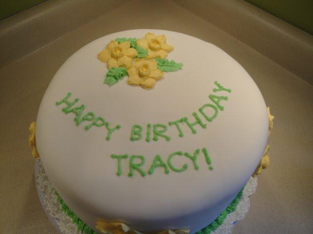 Happy Birthday Tracy Cake
