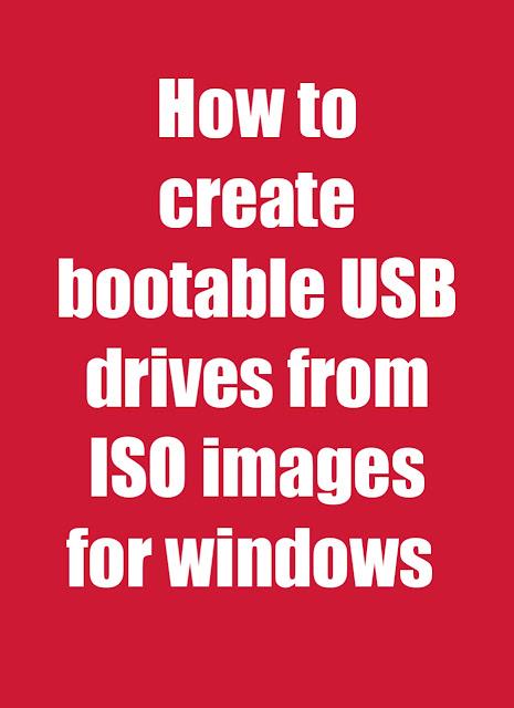 Bootable USB windows 7