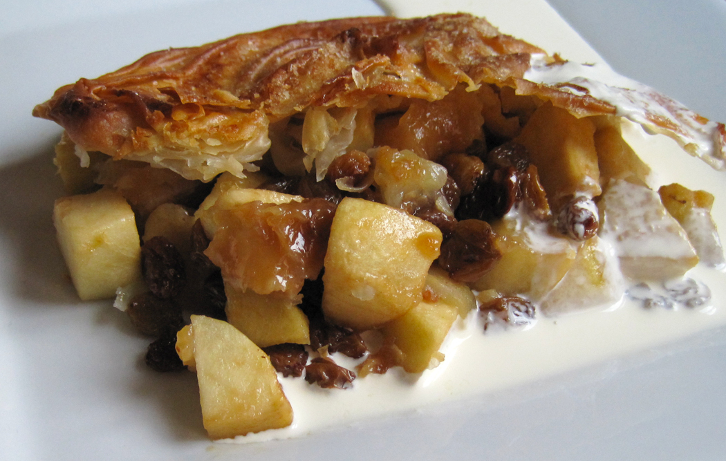 Apple and Boozy Sultana Filo Pastry Pie