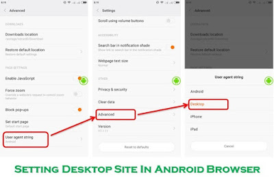 Setting Desktop Setting in Browser Android