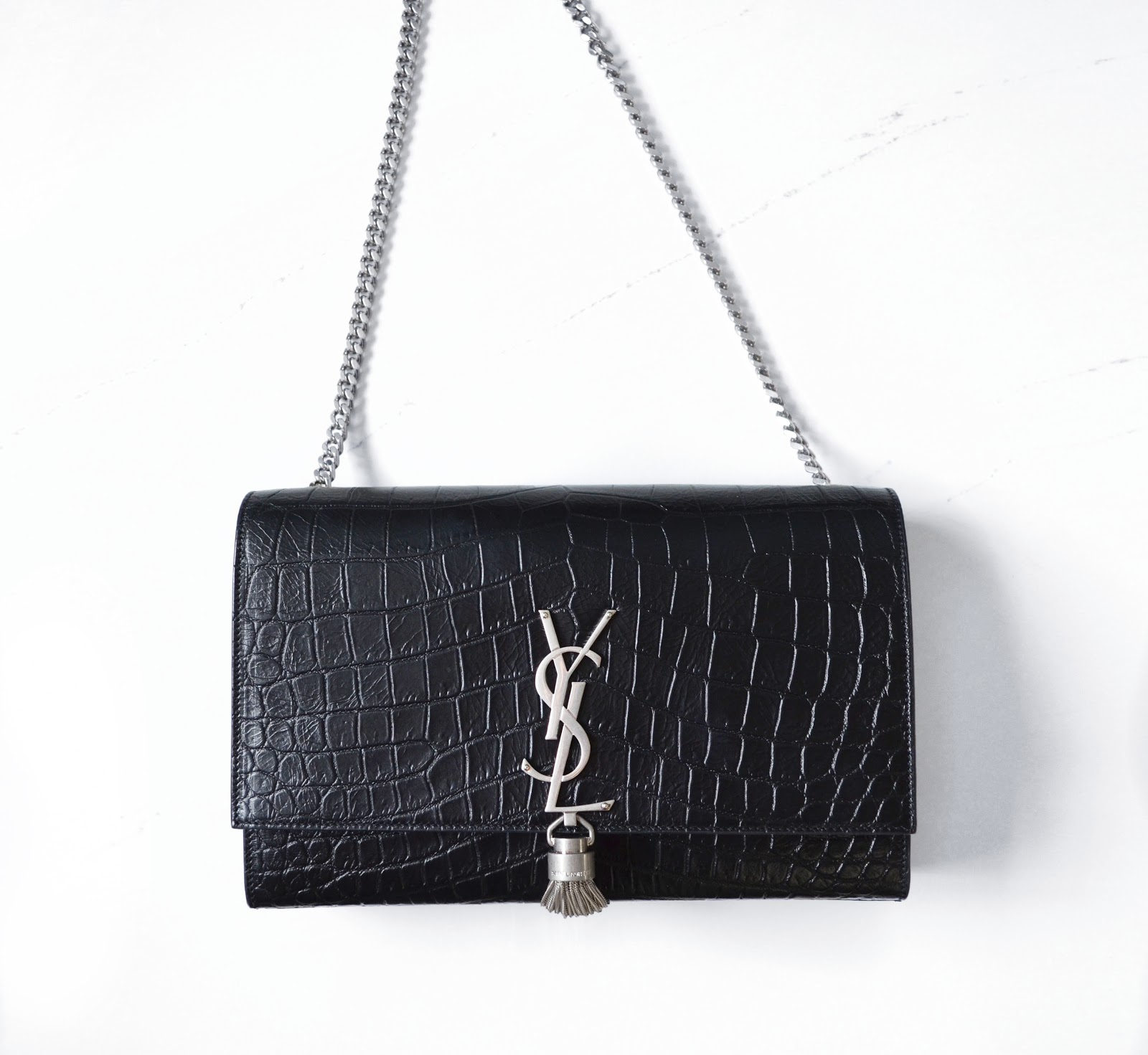 de3b8f1bc Arabella: Review - A New Addition: Saint Laurent Monogram Tassel Satchel