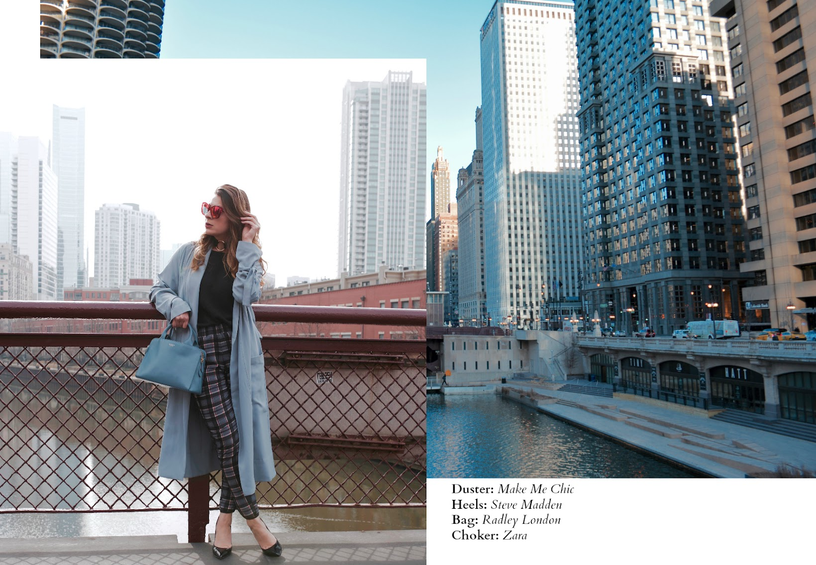 MEDIUM ZIPTOP SATCHEL, Millbank satchel from Radley London, Chicago riverwalk, Chicago fashion blogger, Fashionlingual, Desirée Velásquez, Latina fashion blogger, Chicago style blogger, Chicago blogger, bloguera de moda, River North Chicago,