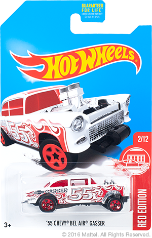 hot wheels red edition chevy bel air gasser