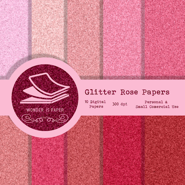 Glitter Rose Papers.